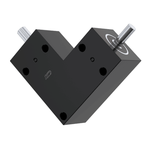 8mm x 6mm Hollow Shaft Bevel Gearbox - BSB Type, 1:1 Ratio - Black Aluminium & Stainless Steel