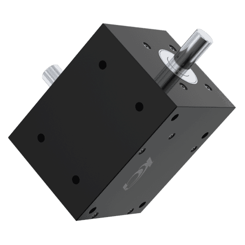 5:1 Ratio - Hypoid Gearbox - HY Type with 6mm Shaft Diameter - Black Aluminium & Carbon Steel