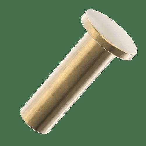 M4 x 20mm Metal Binder Screw (Female) - Brass Plated Steel