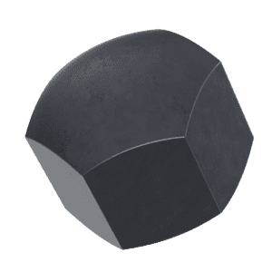M12 Cap Nuts (DIN 917) - Black Marine Stainless Steel (A4)