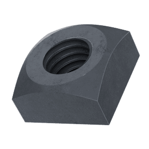 5/16-18 UNC Imperial Chamfered Square Nuts (ANSI B18.2.2) - Black Stainless Steel (A2)