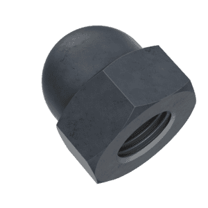 M3 Dome Nuts (DIN 1587) - Black Stainless Steel (A2)