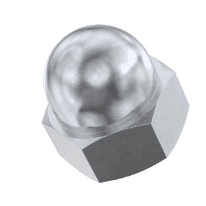 M4 Dome Nuts (DIN 1587) - Stainless Steel (A2)