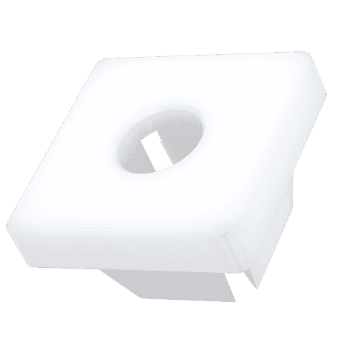 7.7mm x 11.05mm Double Split Square Grommet Nuts - Polyamide