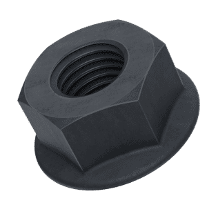 M5 Flanged Hexagon Nuts (DIN 6923) - Black Stainless Steel (A2)