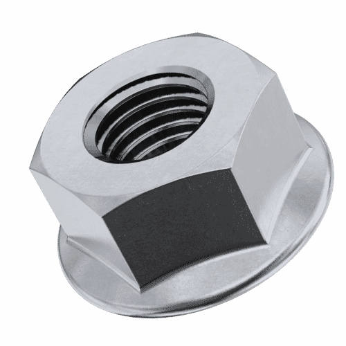 M6 Flanged Hexagon Nuts (DIN 6923) - Stainless Steel (A2)