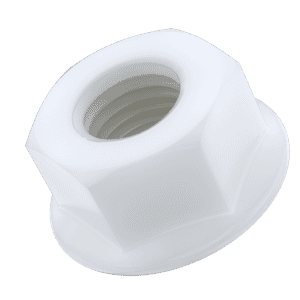 M6 Flanged Hexagon Nuts (DIN 6923) - Nylon