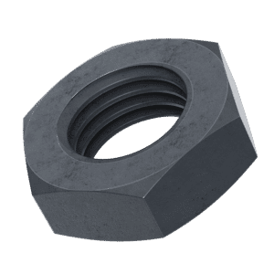 M6 Thin Hexagon Nuts (DIN 439) - Black Stainless Steel (A2)