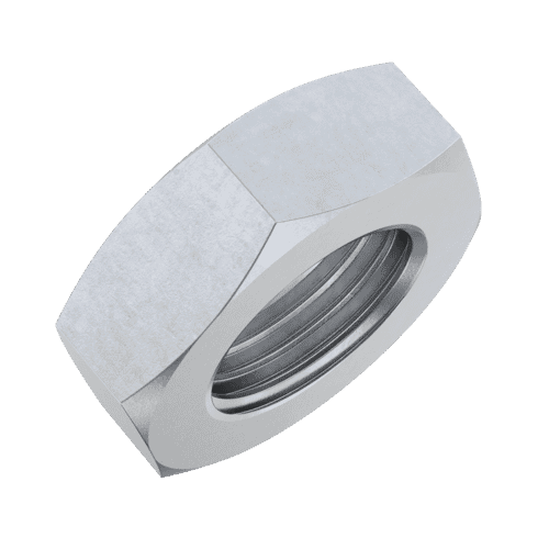 M16 Thin Fine Pitch Hexagon Nuts - 1mm Pitch (DIN 439) - Stainless Steel (A2)