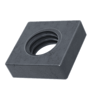 M6 Flat Square Nuts (DIN 562) - Black Stainless Steel (A2)