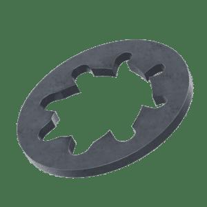 M5 Internal Locking Washers (DIN 6797J) - Black Stainless Steel (A2)