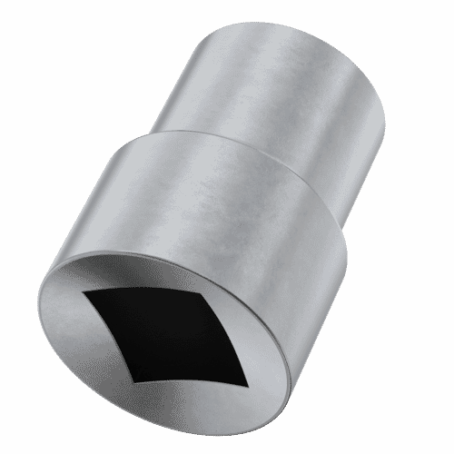 M6 Kinmar® Permanent Driver Socket - Zinc Plated Case Hardened Steel