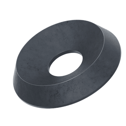 M5 Solid Countersunk Washers (NF E 27-619) - Black Marine Stainless Steel (A4)