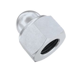 M8 Nylon Locking Dome Nuts (DIN 986) - Stainless Steel (A2)
