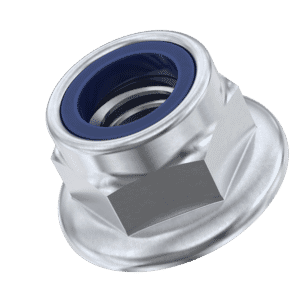M4 Non-Serrated Flanged Nylon Locking Nuts (DIN 6926) - Stainless Steel (A2)