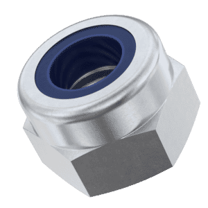 M6 High Nylon Locking Nuts (DIN 982) - Marine Stainless Steel (A4)