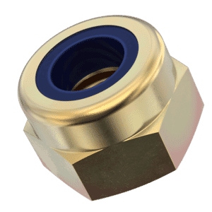 M8 High Nylon Locking Nuts (DIN 982) - Zinc and Yellow Passivated Grade 8 Carbon Steel