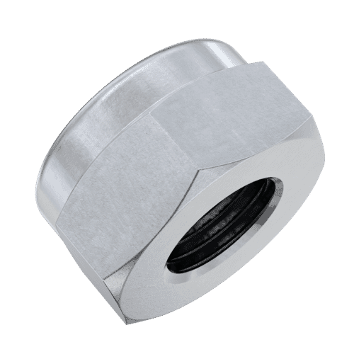 M4 Hexagon Nylon Locking Nuts (DIN 985) - Stainless Steel (A2)