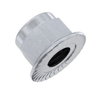 M10 Flanged Nylon Hexagon Nuts (DIN 6926) - Stainless Steel (A2)