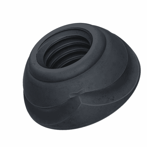 M10 Scroll™ Security Nuts - Black Stainless Steel (A1)