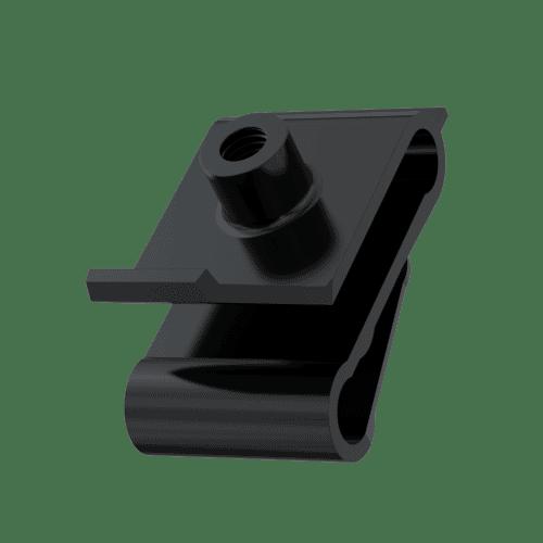 M5 x 1.3mm Panel Edge Grommet Nuts - Type 2 Black Polyamide