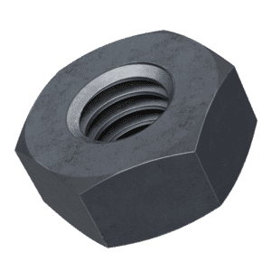 M4 Hexagon Nuts (DIN 934) - Black Marine Stainless Steel (A4)