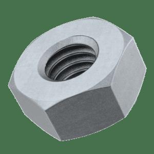 M16 Hexagon Nuts (DIN 934) - Hot Dip Galvanised Mild Steel (Grade 10)