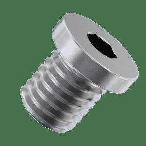 M16 x 15mm Flat Head Socket Pipe Plugs (DIN 908) - Stainless Steel (A2)