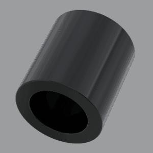 8mm x 4.2mm x 30mm Spacers - Black Nylon