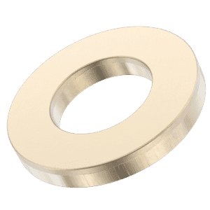 M12 Metric Flat Washers (DIN 125A) - Zinc and Yellow Passivated Mild Steel (Grade 4.6)