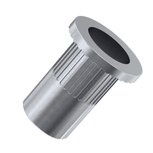M3 x 10mm Knurled Flat Rivet Nuts - Stainless Steel (A2)