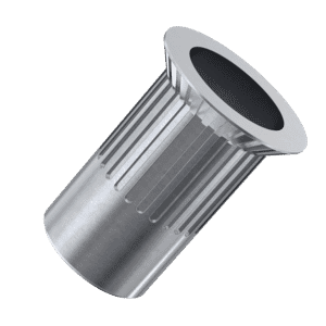 M10 x 21mm Knurled Countersunk Rivet Nuts - Stainless Steel (A2)