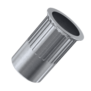 M4 x 10mm Knurled Reduced Head Countersunk Rivet Nuts - Stainless Steel (A2)