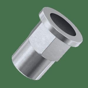 M5 x 13.5mm Flat Hexagon Rivet Nuts - Stainless Steel (A2)