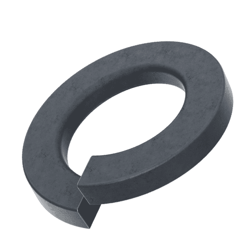 M5 Rectangular Profile Spring Washers (DIN 127B) - Black Marine Stainless Steel (A4)