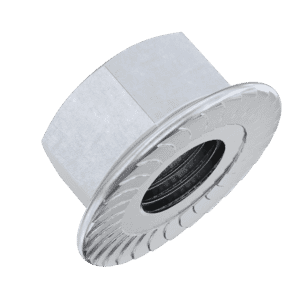 M12 Serrated Flanged Hexagon Nuts (DIN 6923) - Marine Stainless Steel (A4)