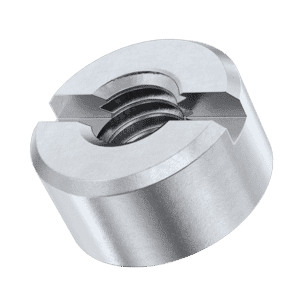M12 Slotted Round Nuts (DIN 546) - Marine Stainless Steel (A4)