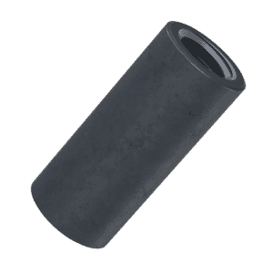M8 x 35mm Cylindrical Connector Nuts - Black Stainless Steel (A2)