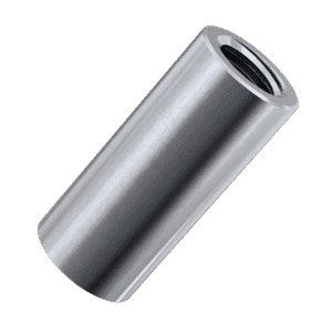 M6 x 25mm Cylindrical Connector Nuts - Stainless Steel (A2)