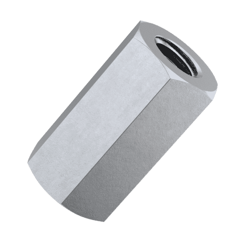 M6 Hexagonal Stud Connector Nuts (DIN 6334) - Stainless Steel (A2)