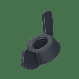 M5 Wing Nuts (DIN 315 AF) - Black Stainless Steel (A2)