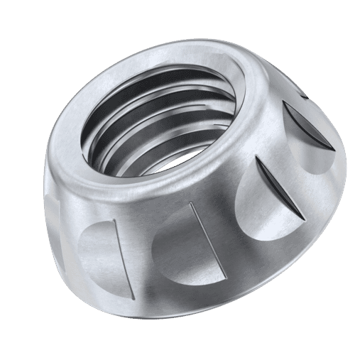 M5 Kinmar® Permanent Security Nuts - A2 Stainless Steel