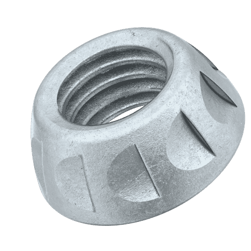 M5 Kinmar® Permanent Security Nuts - Zinc Plated Case Hardened Steel