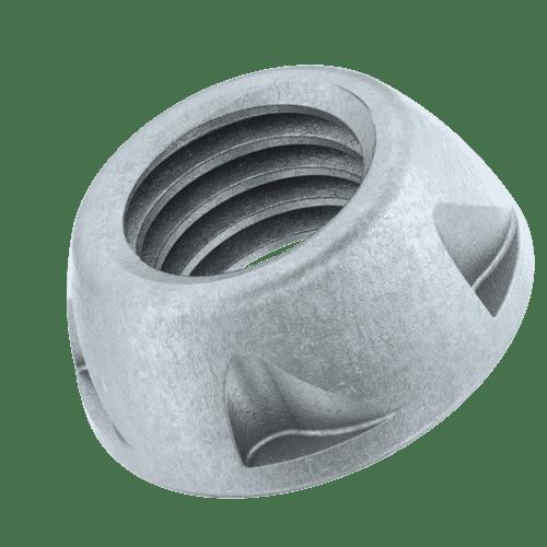 M6 Kinmar® Removable Security Nuts - Geomet Case Hardened Steel