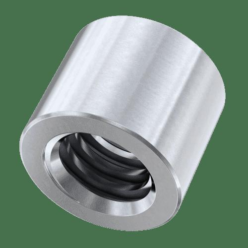 Zylindrischen Stahltrapezgewindemuttern