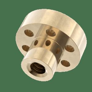 TR12x3 (12mm x 3mm Lead) Flanged Trapezoidal Lead Screw Nuts - Bronze