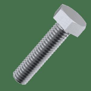 M5 x 40mm Full Thread Hexagon Bolts (DIN 933) - Marine Stainless Steel (A4)
