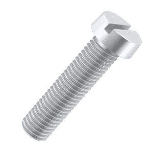 M1 x 6mm Cheese Head Screws (DIN 84) - Black Stainless Steel (A2)