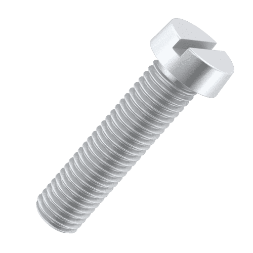 6BA x 3/8 inch Cheese Head Screws (BS 57 : 1951) - Silver Plated Stainless Steel (A2)