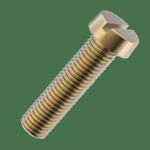 M5 x 12mm Cheese Head Screws (DIN 84) - Brass